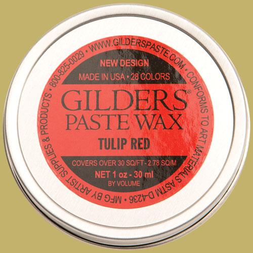 Gilders Paste Wax Tulip Red 30ml